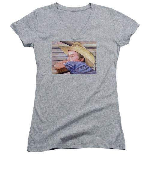 Sale Day Women's V-Neck T-Shirt (Junior Cut) by Sam Sidders