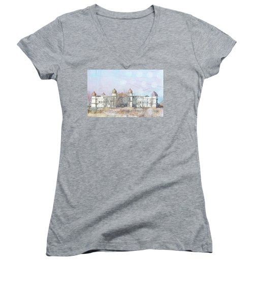 Women's V-Neck T-Shirt (Junior Cut) featuring the photograph Salt Air by Cynthia Powell