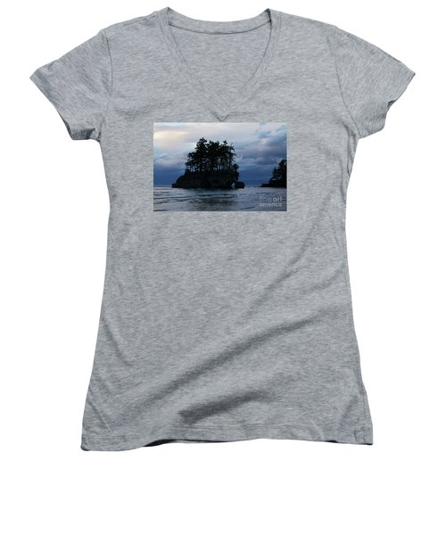 Salt Creek At Sunset Women's V-Neck T-Shirt (Junior Cut) by Jane Eleanor Nicholas