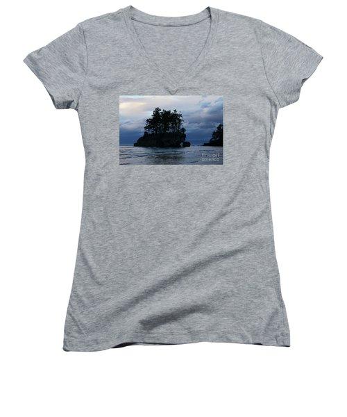 Salt Creek At Sunset Women's V-Neck T-Shirt