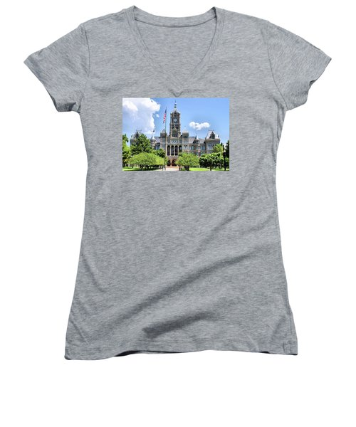 Salt Lake City County Building Women's V-Neck T-Shirt
