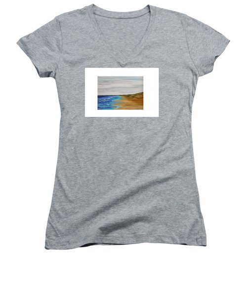 Salty Morning Women's V-Neck (Athletic Fit)