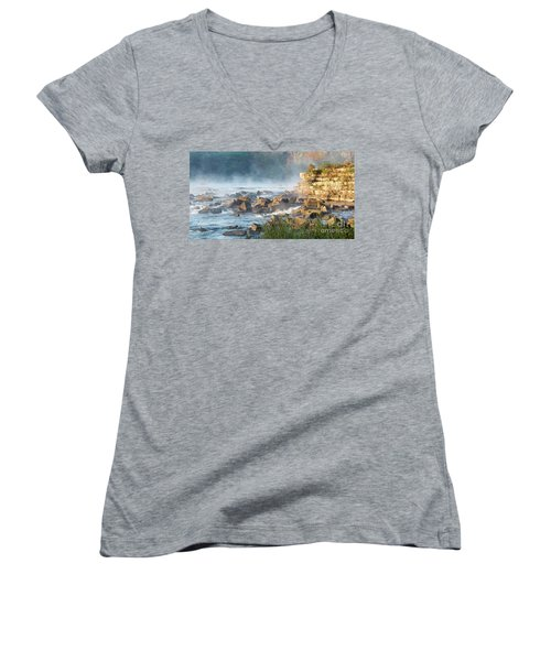 Saluda River At Daybreak Women's V-Neck