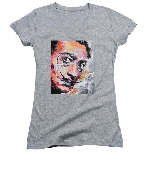 Salvador Dali Women's V-Neck T-Shirt