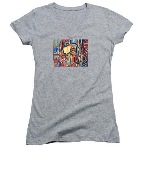 Salvaje # 8 Women's V-Neck T-Shirt