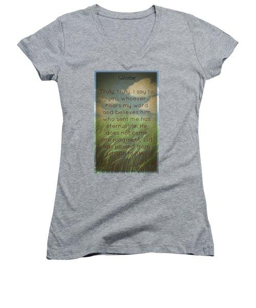 Salvation 454 Women's V-Neck T-Shirt