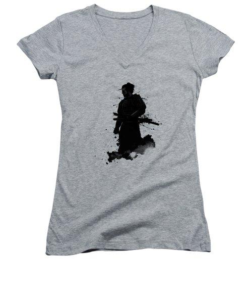 Samurai Women's V-Neck T-Shirt (Junior Cut) by Nicklas Gustafsson