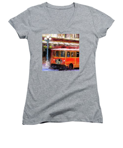 San Antonio 5 Oclock Trolley Women's V-Neck