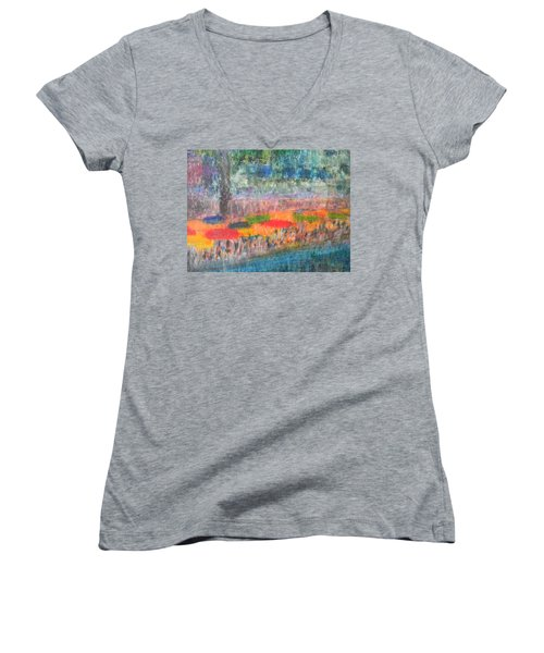 San Antonio By The River II Women's V-Neck