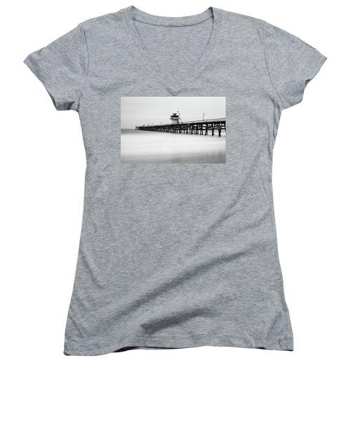 San Clemente Pier Women's V-Neck T-Shirt