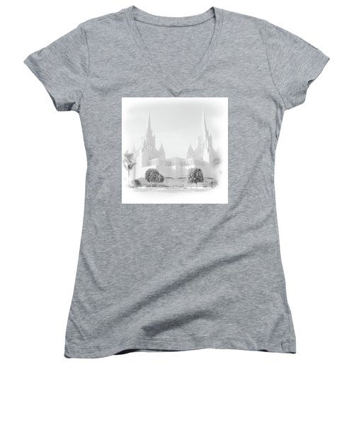 San Diego Lds Temple Women's V-Neck