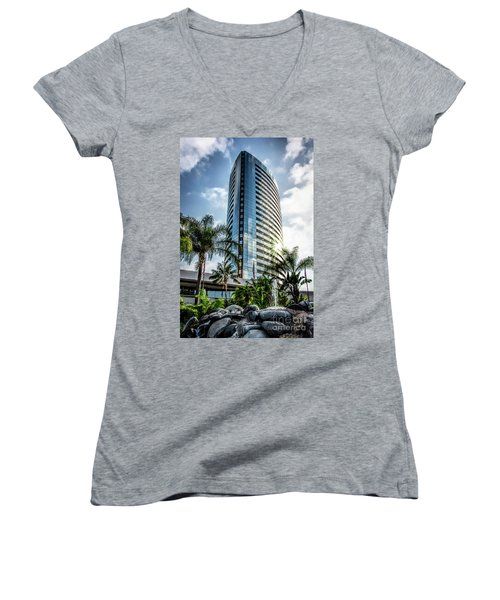 San Diego Marriott Marquis Women's V-Neck T-Shirt