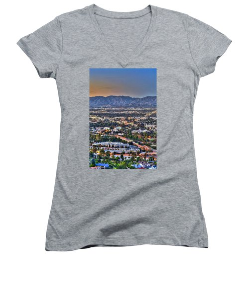 San Fernando Valley Vertical Women's V-Neck (Athletic Fit)