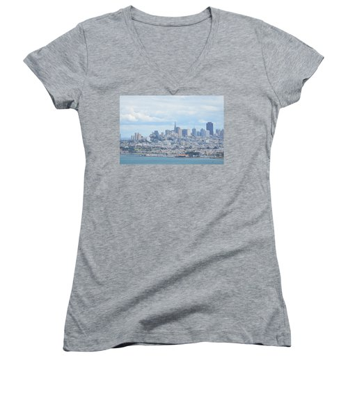 San Francisco Women's V-Neck (Athletic Fit)