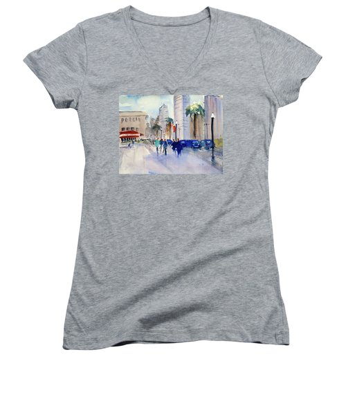 San Francisco Embarcadero1 Women's V-Neck T-Shirt