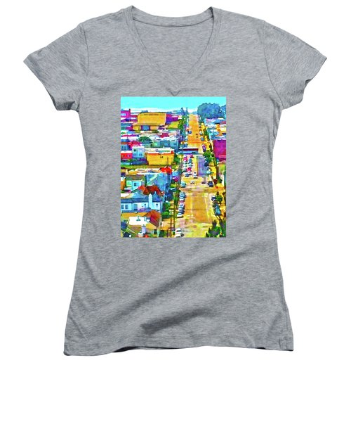 San Francisco Quintara View Women's V-Neck T-Shirt
