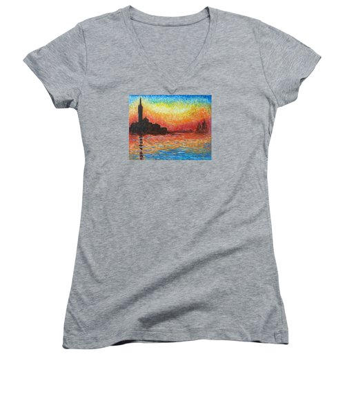 San Giorgio At Dusk Women's V-Neck