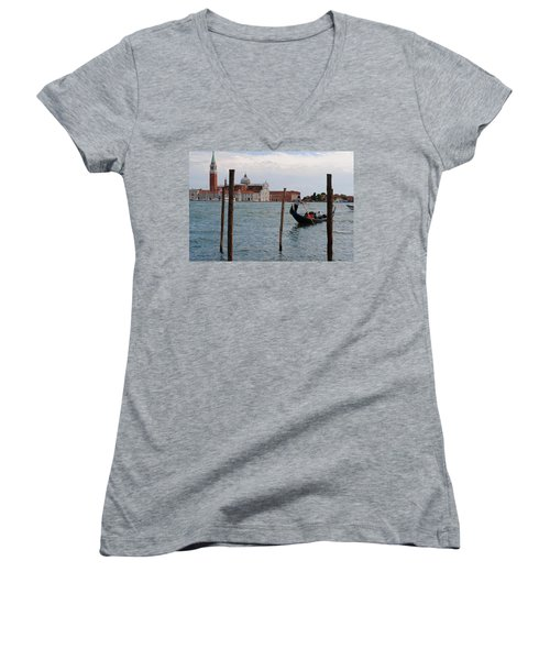 San Giorgio Maggiore Gondola Women's V-Neck T-Shirt