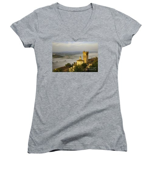 San Miniato Women's V-Neck T-Shirt (Junior Cut) by Brian Jannsen