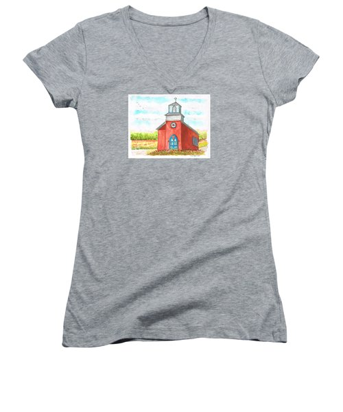 San Rafael Church In La Cueva, New Mexico Women's V-Neck (Athletic Fit)