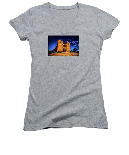 Women's V-Neck T-Shirt (Junior Cut) featuring the photograph Sanctuary  ... by Chuck Caramella