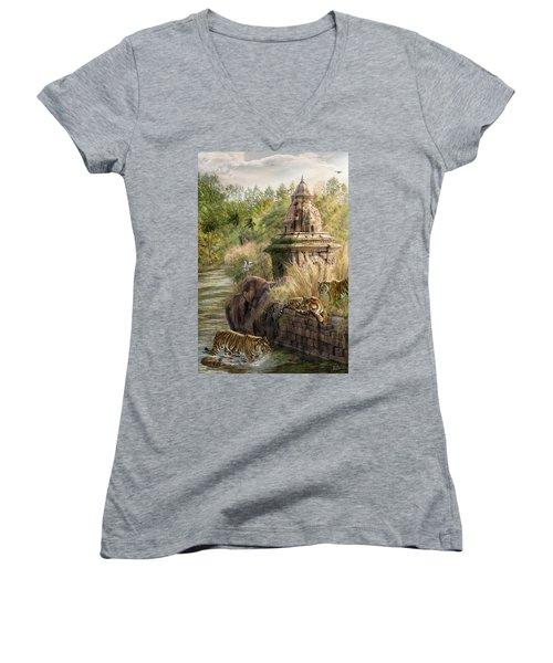 Sanctuary Women's V-Neck T-Shirt (Junior Cut) by Don Olea