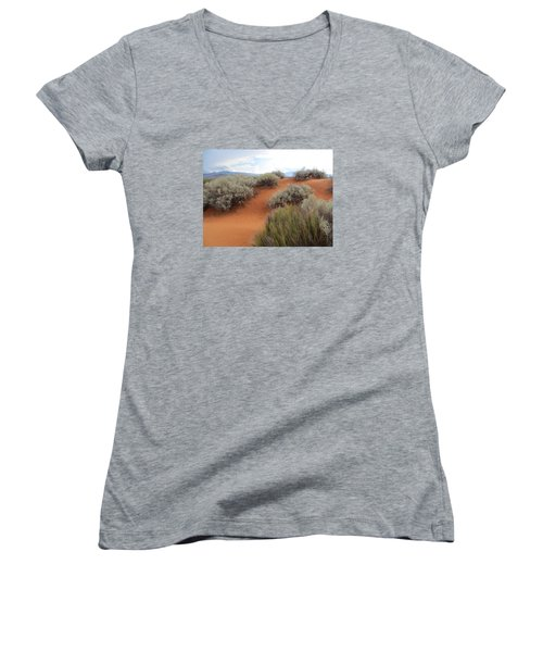 Sand And Sagebrush Women's V-Neck (Athletic Fit)