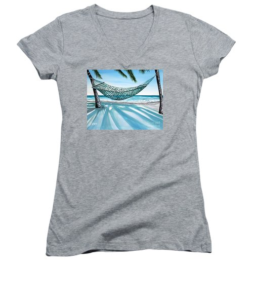 Sand And Shadows Women's V-Neck (Athletic Fit)