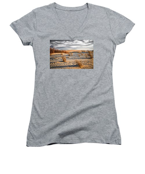 Sand Dune Wind Carvings Women's V-Neck