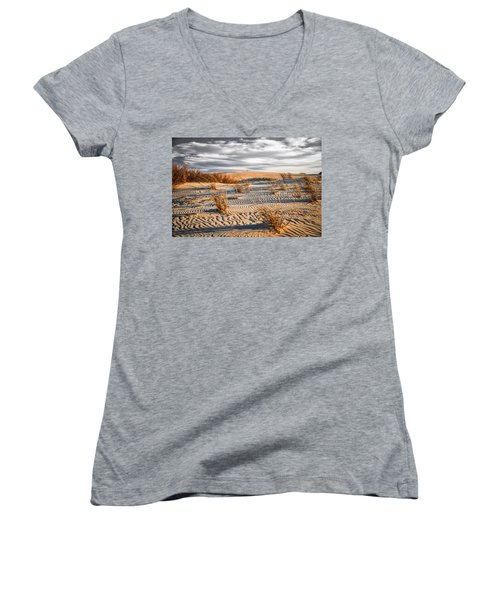 Sand Dune Wind Carvings Women's V-Neck (Athletic Fit)
