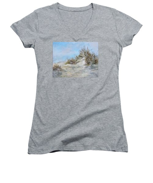 Sand Dunes And Salty Air Women's V-Neck T-Shirt (Junior Cut) by Barbara O'Toole