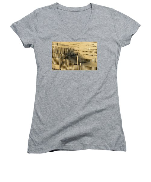 Sand Dunes Of The Outer Banks Women's V-Neck