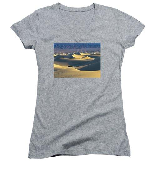 Sand Dunes Sunrise Women's V-Neck T-Shirt
