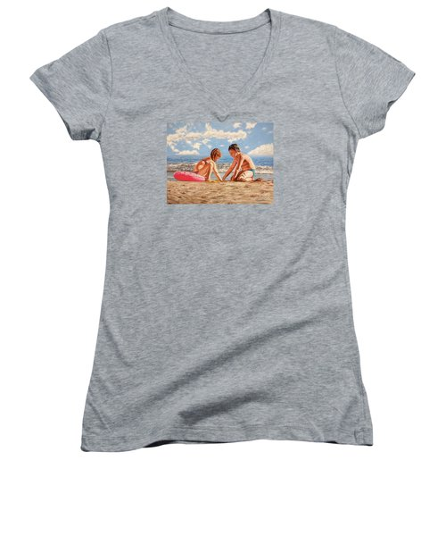 Sand Grains - Granos De Arena Women's V-Neck T-Shirt