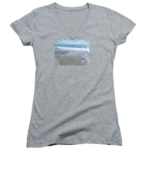 Sand, Sea, Sun, No. 3 Women's V-Neck (Athletic Fit)