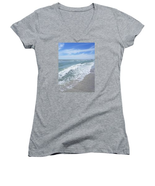 Sand, Sea, Sun, No.2 Women's V-Neck (Athletic Fit)