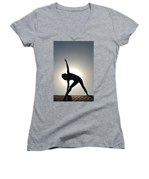 Sand Yoga Women's V-Neck (Athletic Fit)