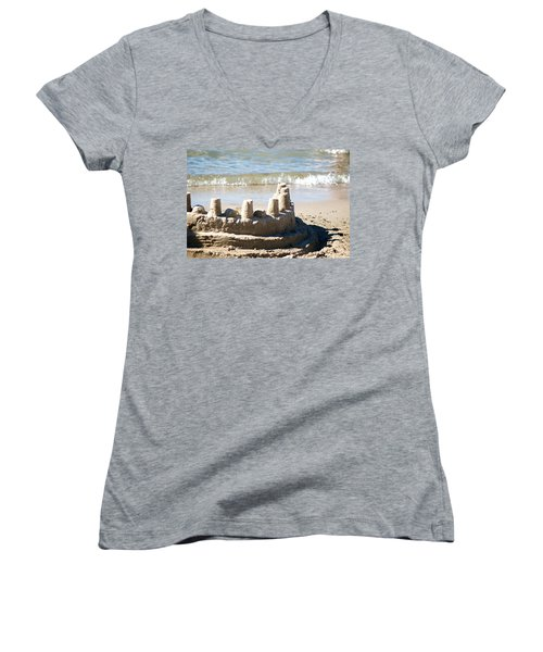 Sandcastle  Women's V-Neck T-Shirt