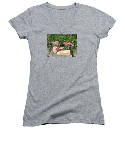 Sanderling Trio Women's V-Neck T-Shirt