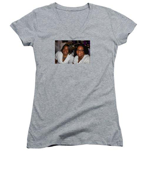 Sanderson - 4523 Women's V-Neck T-Shirt (Junior Cut) by Joe Finney