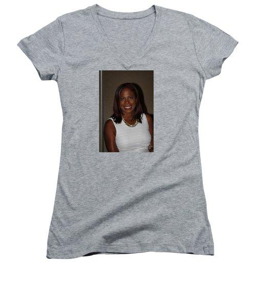 Sanderson - 4525 Women's V-Neck T-Shirt (Junior Cut) by Joe Finney