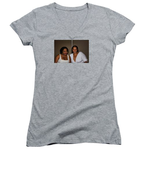 Sanderson - 4527 Women's V-Neck T-Shirt (Junior Cut) by Joe Finney