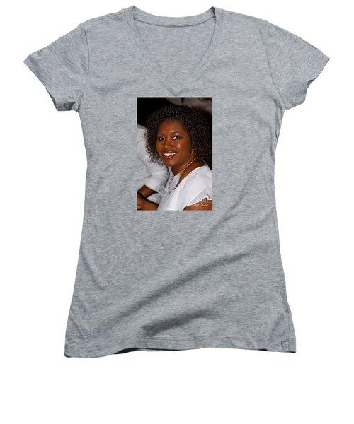 Sanderson - 4529 Women's V-Neck T-Shirt (Junior Cut) by Joe Finney