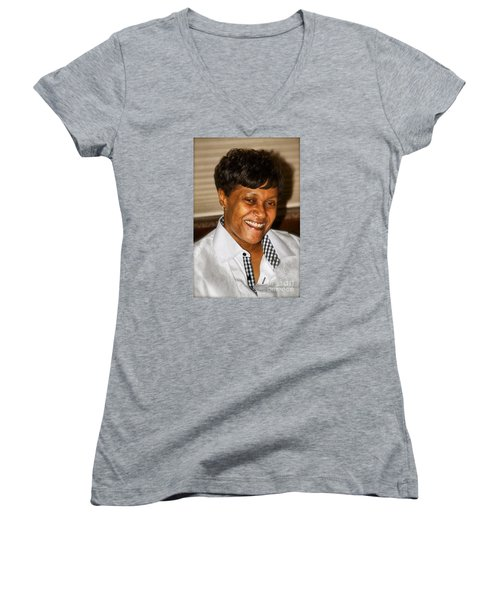 Sanderson - 4533.2 Women's V-Neck T-Shirt (Junior Cut) by Joe Finney