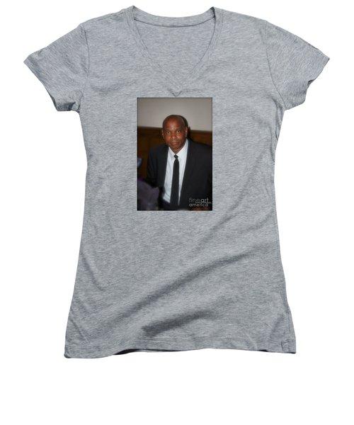 Sanderson - 4536.2 Women's V-Neck T-Shirt (Junior Cut) by Joe Finney
