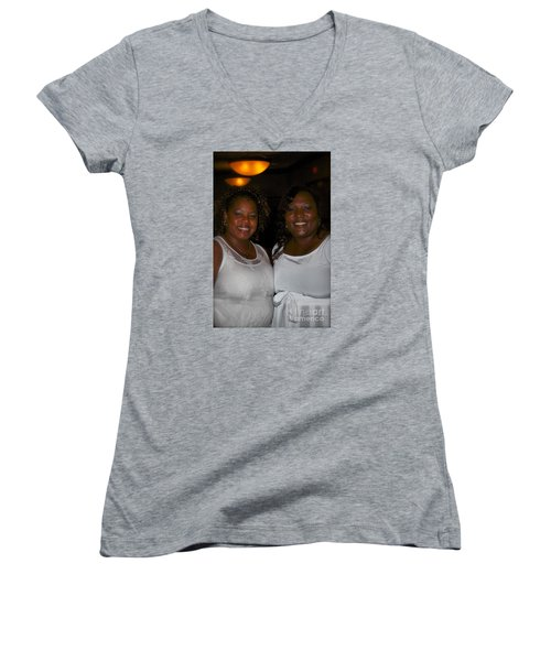 Sanderson - 4546.1 Women's V-Neck T-Shirt (Junior Cut) by Joe Finney