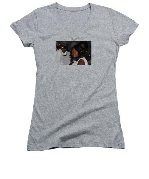 Sanderson - 4678 Women's V-Neck T-Shirt (Junior Cut) by Joe Finney