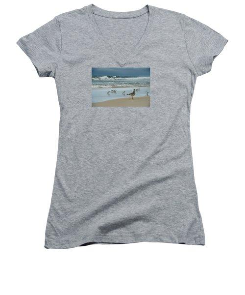 Sandpiper Beach Women's V-Neck T-Shirt