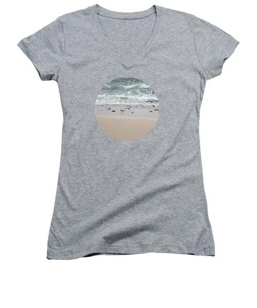 Sandpipers In Tideland Women's V-Neck T-Shirt