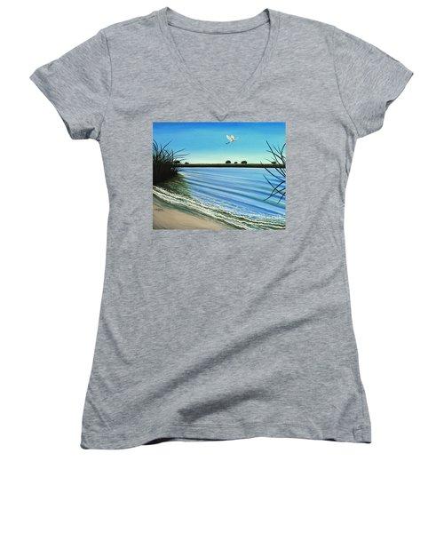 Sandy Beach Women's V-Neck